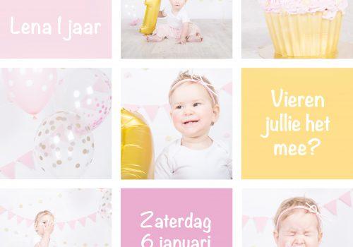 Cakesmash, babygirl, uitnodiging, feestje, verjaardag, birthday, birthdaycake, taart
